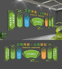 企业食堂节约粮食文化墙