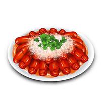 原创元素手绘插画一盘蒜蓉小龙虾