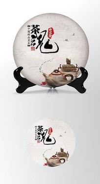 茶魂茶叶棉纸茶饼包装设计