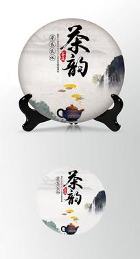 茶香茶韵茶叶棉纸茶饼包装设计