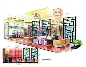 古典中式餐厅室内设计