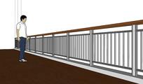 金属栏杆SKP模型