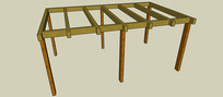 六柱廊架SU模型