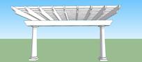 双柱廊架SU模型
