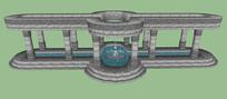 水神龛廊架SU模型
