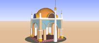 伊斯兰景观亭SU模型