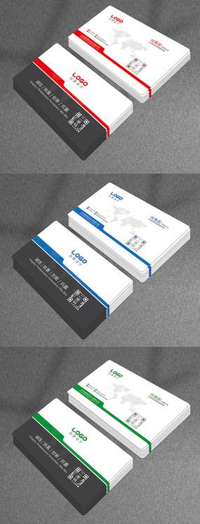 个人名片设计模板二维码企业公司卡片
