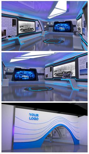 科技车展厅效果图