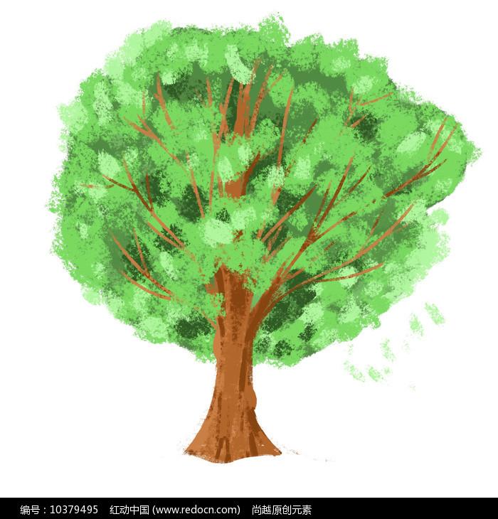 原创手绘世界环境日绿色树木元素图片