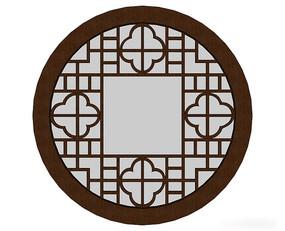 圆形传统中式窗户模型