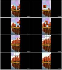 创意俄罗斯方块抖音小视频AE模板