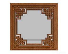 复古特色中式窗户模型