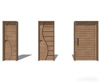 极简线条室内门模型