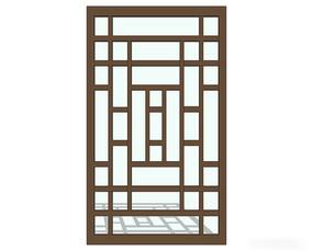 极简中式窗户模型