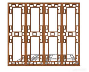 镂空木质中式窗户