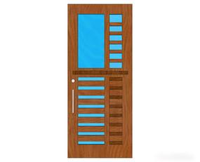 木质极简室内门模型