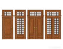 木质室内门组合模型