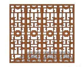 木质中式窗户
