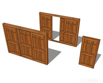 室内推拉门组合模型