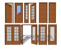 室内住宅门组合模型