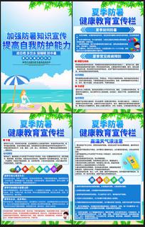 夏季防暑安全知识展板