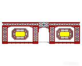 中式大型组合窗户