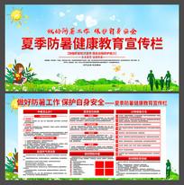2019年精美夏季防暑健康教育宣传栏