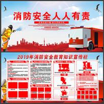 2019年消防安全教育知识宣传展板