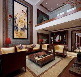 古典中式室内客厅3D模型