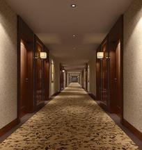 花色地毯过道3D模型