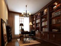 家装古典书房3D模型