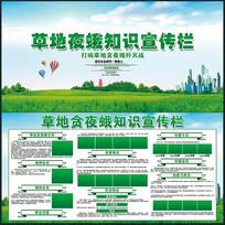 绿色防止草地夜蛾知识宣传展板