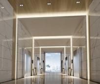 室内电梯厅过道3D