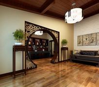 室内中式书房3D