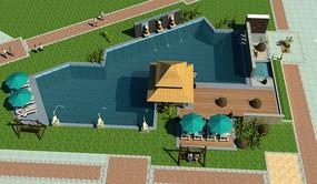 度假村泳池