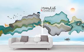 新中式客厅装饰沙发背景墙