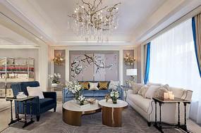 新中式奢华住宅客厅 JPG