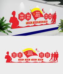 大气军队文化墙设计