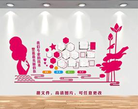 美容院公司形象墙设计