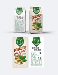 绿色开心果包装设计