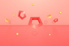 淘宝首页海报装饰漂浮几何
