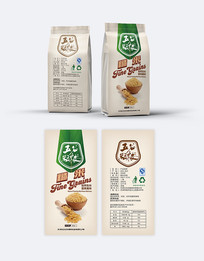五谷杂粮糙米包装设计