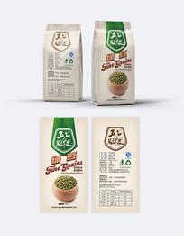 五谷杂粮绿豆包装设计