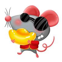 原创手绘卡通老鼠