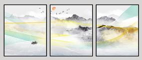 抽象线条装饰画