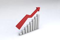 金融信息增长立体图表元素