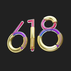 618金属字体元素