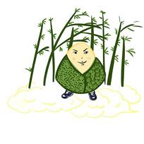 手绘创意卡通粽子竹子祥云端午节元素