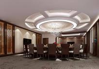 餐厅包房3d模型及效果图