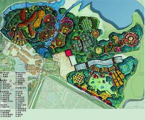 华侨城景观彩平手绘